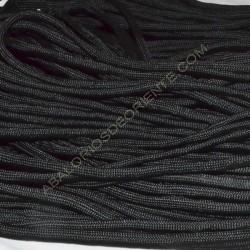 Cordón Paracaidista negro 4 mm