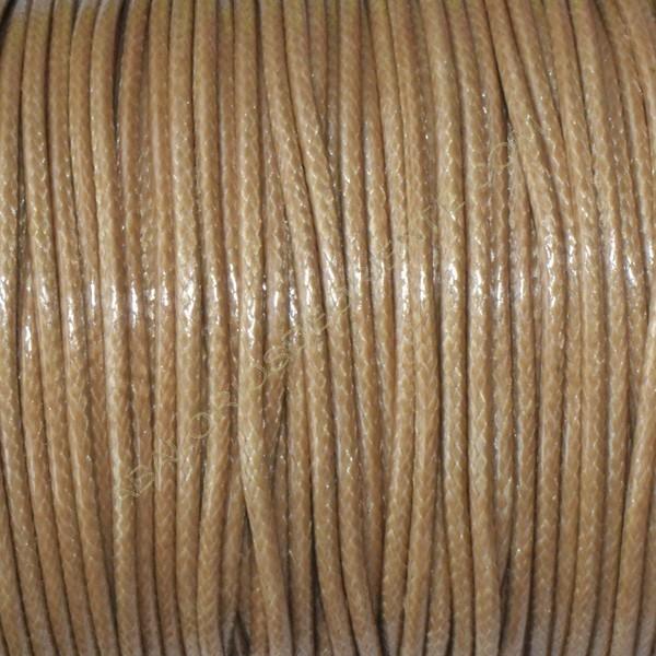 Algodón encerado brillante 1,5 mm beige