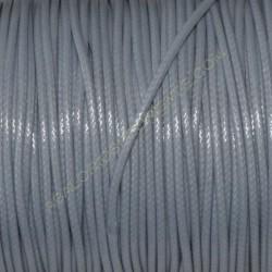Algodón encerado brillante 2 mm gris claro
