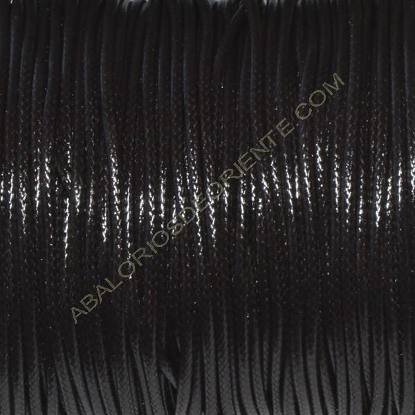 Algodón encerado brillante 2 mm marrón oscuro