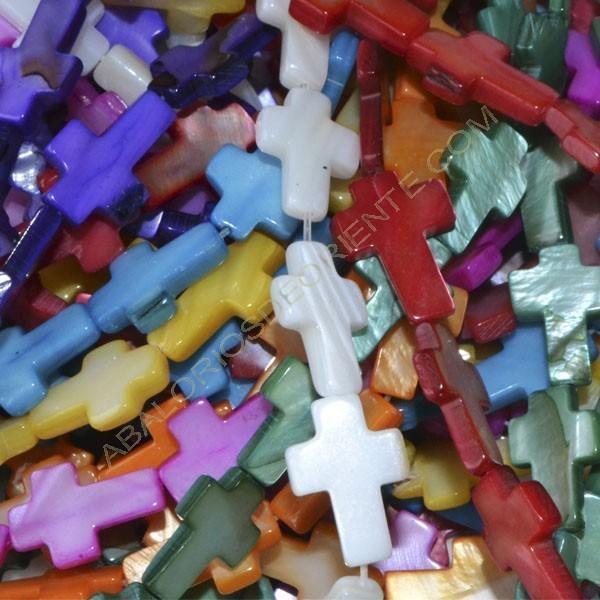 Cruz de Nácar color variado