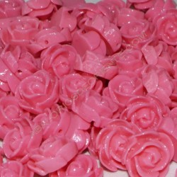 Flor resina fucsia 13 x 6 mm