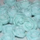 Flor resina azul claro 13 x 6 mm