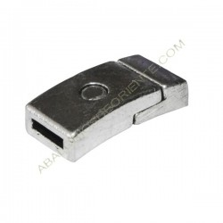 Cierre magnético de aleación de Zinc plateado rectangular
