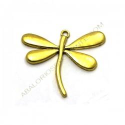 Colgante libélula dorada grande