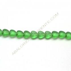 Corazón de cristal verde