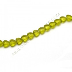 Corazón de cristal verde oliva