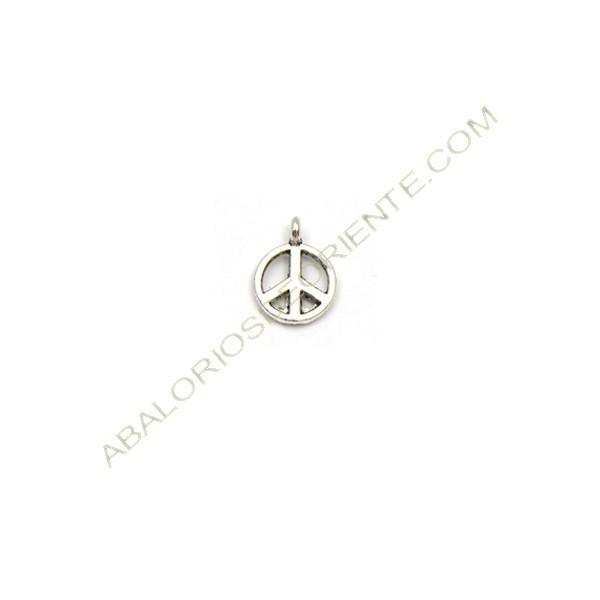 Colgante símbolo de la paz plateado 9 mm