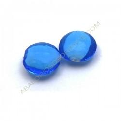 Cuenta de cristal de Murano redonda azul turquesa 20 mm