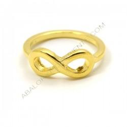 Anillo con símbolo de infinito color oro amarillo