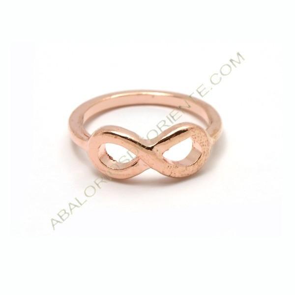 Anillo con símbolo de infinito color oro rosa