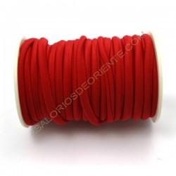 Cordón de Lycra elástico 5 mm rojo