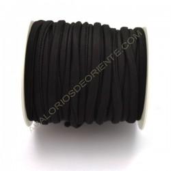 Cordón de Lycra elástico 5 mm negro