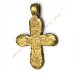 Colgante cruz bronce