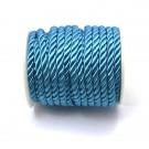 Cordón trenzado de algodón azul turquesa 4 mm