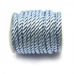 Cordón trenzado de algodón azul cielo 4 mm