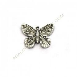 Colgante de metal mariposa plateado