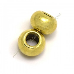 Entrepieza bola achatada dorada 12 x 19 mm
