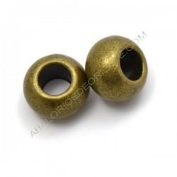 Entrepieza bola achatada bronce 12 x 19 mm