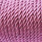 Cordón trenzado de algodón rosa 4 mm