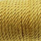 Cordón trenzado de algodón amarillo 4 mm