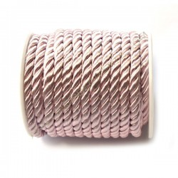 Cordón trenzado de algodón rosa palo 4 mm