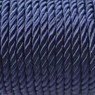 Cordón trenzado de algodón azul marino 4 mm