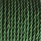 Cordón trenzado de algodón verde 3 mm