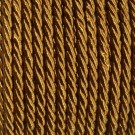 Cordón trenzado de algodón ocre 3 mm