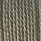 Cordón trenzado de algodón beige 4 mm