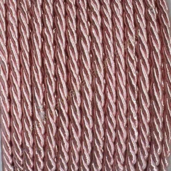 Cordón trenzado de algodón rosa 3 mm
