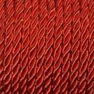 Cordón trenzado de algodón rojo 3 mm