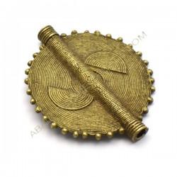 Entrepieza colgante de bronce círculo 53 x 44 mm