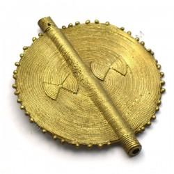 Entrepieza colgante de bronce círculo 82 x 67 mm