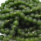 Cuenta de vidrio reciclado tonel verde botella 13 x 14 x 14 mm