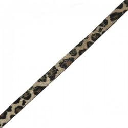 Cuero plano imitación leopardo