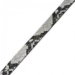 Cuero plano imitación serpiente gris-1