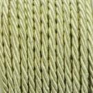 Cordón trenzado de algodón amarillo pálido 3 mm