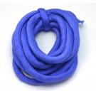 Cordón de seda natural india relleno 8 mm azul zafiro de 2 metros