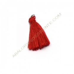 Pompón de algodón de 25 mm rojo