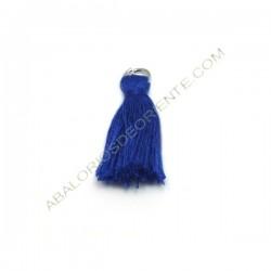 Pompón de algodón de 25 mm azul