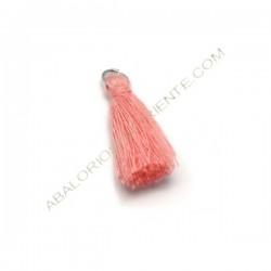Pompón de algodón de 25 mm rosa