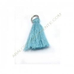 Pompón de algodón de 25 mm azul cielo
