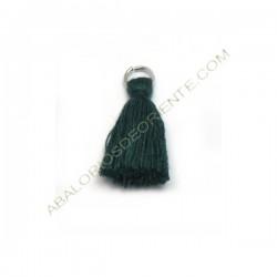 Pompón de algodón de 25 mm verde oscuro