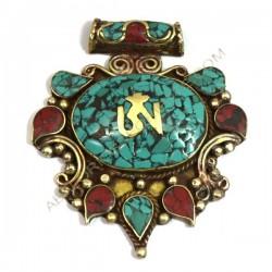 Colgante amuleto tibetano Mechung