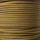 Cordón de antelina camel 3 x 1.5 mm
