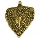 Colgante indio de metal oro viejo corazón