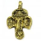 Colgante indio de metal oro viejo cabeza de elefante