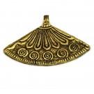 Colgante indio de metal oro viejo abanico