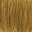 Cadena de bolas de 2,4 mm dorada